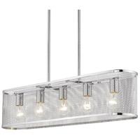Golden Lighting 2245-LP-CH London 5 Light 33 inch Chrome Linear Pendant Ceiling Light Convertible
