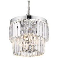 Golden Lighting 2247-3P-CH Paris 3 Light 11 inch Chrome Pendant Ceiling Light Convertible