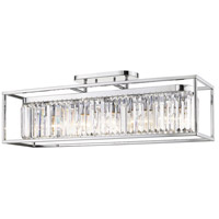 Golden Lighting 2247-5SF-CH-CH Paris 5 Light 36 inch Chrome Semi-Flushmount Ceiling Light