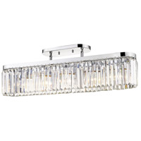 Golden Lighting 2247-5SF-CH Paris 5 Light 36 inch Chrome Semi-Flushmount Ceiling Light Convertible