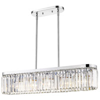 Golden Lighting 2247-LP-CH Paris 5 Light 33 inch Chrome Linear Pendant Ceiling Light Convertible