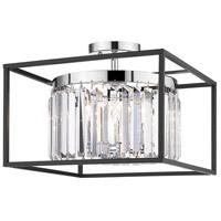 Golden Lighting 2247-SF-CH-BLK Paris 3 Light 15 inch Chrome Semi-Flushmount Ceiling Light