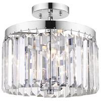 Golden Lighting 2247-SF-CH Paris 3 Light 11 inch Chrome Semi-Flushmount Ceiling Light