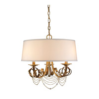 Gwendolyn 3 Light 19 inch Golden Radiance Pendant Ceiling Light, Drum
