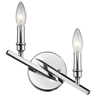 Garvin 2 Light 10 inch Chrome Wall Sconce Wall Light