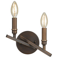 Garvin 2 Light 10 inch Rubbed Bronze Wall Sconce Wall Light