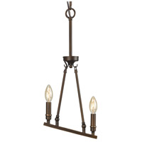 Garvin 2 Light 9 inch Rubbed Bronze Mini Pendant Ceiling Light