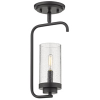 Golden Lighting 2380-1SF-BLK-SD Holden 1 Light 7 inch Black Semi-Flush Ceiling Light