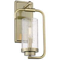 Golden Lighting 2380-1W-AB-SD Holden 1 Light 7 inch Aged Brass Wall Sconce Wall Light
