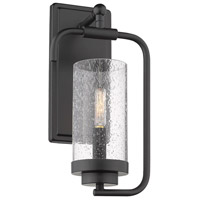 Golden Lighting 2380-1W-BLK-SD Holden 1 Light 7 inch Black Wall Sconce Wall Light