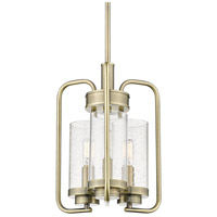 Golden Lighting 2380-3P-AB-SD Holden 3 Light 12 inch Aged Brass Pendant Ceiling Light