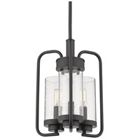Golden Lighting 2380-3P-BLK-SD Holden 3 Light 12 inch Black Pendant Ceiling Light