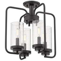 Holden 4 Light 16 inch Black Semi-Flush Ceiling Light