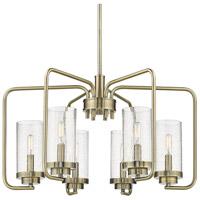 Golden Lighting 2380-6-AB-SD Holden AB 6 Light 25 inch Aged Brass Chandelier Ceiling Light