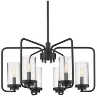 Golden Lighting 2380-6-BLK-SD Holden 6 Light 25 inch Black Chandelier Ceiling Light