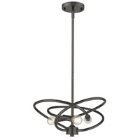Cosmic 3 Light 14 inch Etruscan Bronze Chandelier Ceiling Light
