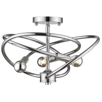 Cosmic 3 Light 14 inch Chrome Semi-Flushmount Ceiling Light