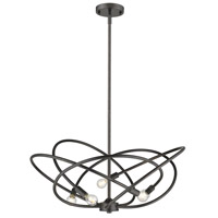 Cosmic 5 Light 24 inch Etruscan Bronze Chandelier Ceiling Light