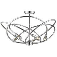 Golden Lighting 2618-5SF-CH Cosmic 5 Light 24 inch Chrome Semi-Flushmount Ceiling Light