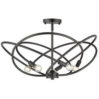 Golden Lighting 2618-5SF-EB Cosmic 5 Light 24 inch Etruscan Bronze Semi-Flushmount Ceiling Light