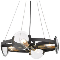 Golden Lighting 2635-4SF-BLK-AB Amari 4 Light 19 inch Black with Aged Brass Semi-Flushmount Ceiling Light, Convertible 2635-4SF-BLK-AB-(2).jpg thumb