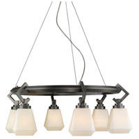 Hollis 6 Light 29 inch Aged Steel Chandelier Ceiling Light
