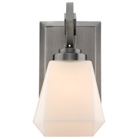 Hollis 1 Light 5 inch Aged Steel Bath Vanity Wall Light
