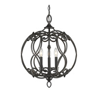 Selene 3 Light 18 inch Aged Bronze Pendant Ceiling Light