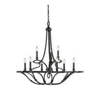 Selene 9 Light 38 inch Aged Bronze Chandelier Ceiling Light, 2 Tier