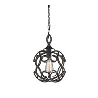 Selene 1 Light 10 inch Aged Bronze Mini Pendant Ceiling Light