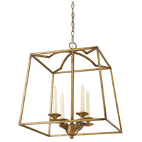 Athena 4 Light 19 inch Grecian Gold Foyer Pendant Ceiling Light