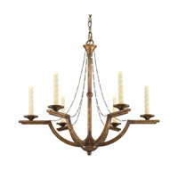 Golden Lighting Athena 6 Light Chandelier in Grecian Gold 3071-6-GG