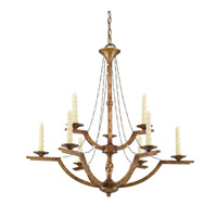 Golden Lighting Athena 9 Light Chandelier in Grecian Gold 3071-9-GG