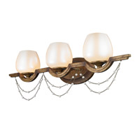 Athena 3 Light 29 inch Grecian Gold Bath Vanity Wall Light
