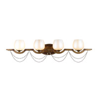Athena 4 Light 38 inch Grecian Gold Bath Vanity Wall Light