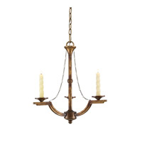 Golden Lighting Athena 3 Light Chandelier - Mini in Grecian Gold 3071-M3-GG