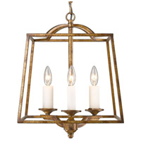 Athena 3 Light 15 inch Grecian Gold Foyer Pendant Ceiling Light