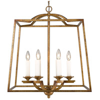 Golden Lighting 3072-6P GG Athena 6 Light 23 inch Grecian Gold Foyer Chandelier Ceiling Light Caged