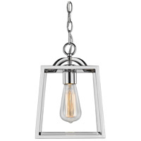 Golden Lighting 3074-1P-CH Athena 1 Light 8 inch Chrome Mini Pendant Ceiling Light