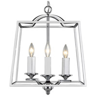 Athena 3 Light 15 inch Chrome Foyer Pendant Ceiling Light