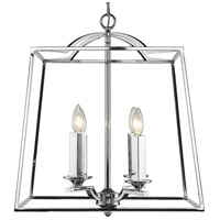Golden Lighting 3074-4P CH Athena 4 Light 19 inch Chrome Foyer Chandelier Ceiling Light Caged