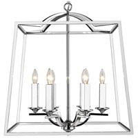 Golden Lighting 3074-6P-CH Athena 6 Light 23 inch Chrome Foyer - Caged Ceiling Light