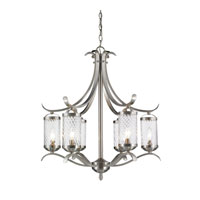Golden Lighting Wynn 6 Light Chandelier in Pewter 3082-6-PW