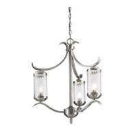 Golden Lighting Wynn 3 Light Chandelier - Mini in Pewter 3082-M3-PW