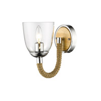 Golden Harland 1 Light Bath Fixture in Chrome 3086-1W-CH