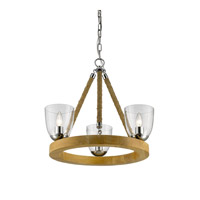 Harland 3 Light 22 inch Chrome Mini Chandelier Ceiling Light