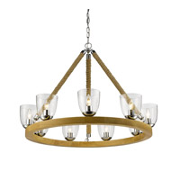 Golden Harland 9 Light Chandelier in Chrome 3086-9-CH