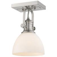 Golden Lighting 3118-1SF-PW-OP Hines 1 Light 7 inch Pewter Semi-Flush Ceiling Light