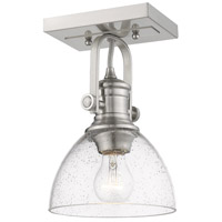 Golden Lighting 3118-1SF-PW-SD Hines 1 Light 7 inch Pewter Semi-Flush Ceiling Light