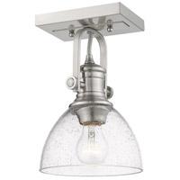 Golden Lighting 3118-1SF-PW-SD Hines 1 Light 7 inch Pewter Semi-Flush Ceiling Light